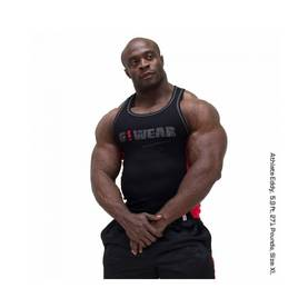 Gorilla Wear - G!Wear RIB Tanktop, Black/Red - Gorilla Wear tank topit - 01876 - 1