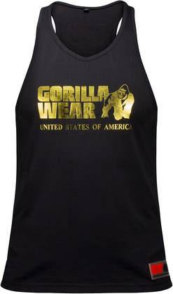 Gorilla Wear - Gwear Stringer Tank Top, White - Gorilla Wear tank topit - 01846 - 1