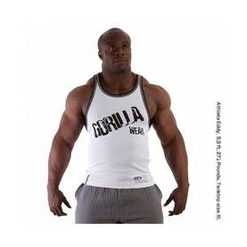 Gorilla Wear - Stamina Rib Tank Top, White - Gorilla Wear tank topit - 01866 - 1