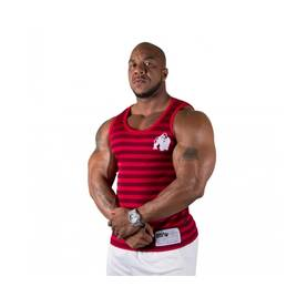 Gorilla Wear - Stripe Tank Top, Red - Gorilla Wear tank topit - 02006 - 1