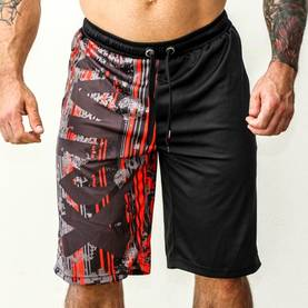MNX Sportswear - Cool Mesh Shorts Sacrifice, Black / Red - MNX Sportwear shortsit - 02076 - 1