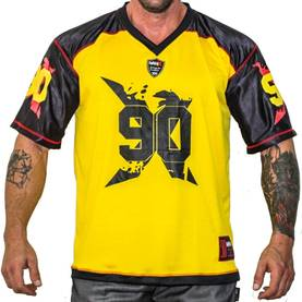 MNX Sportswear - Football Tee No.90, Black/Yellow - MNX Sportwear t-paidat - 02926 - 1