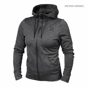 Better Bodies - Performance Hoodie, Anthracite Melange - Better Bodies hupparit ja takit - 06016 - 1