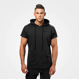 Better Bodies - Bronx T-Shirt Hoodie, Washed Black - Better Bodies hupparit ja takit - 06276 - 1