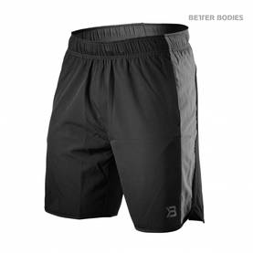 Better Bodies - Brooklyn Shorts, Black - Better Bodies shortsit - 02687 - 1