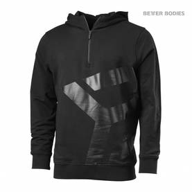 Better Bodies - Brooklyn Zip Hood, Black / Grey - Better Bodies hupparit ja takit - 02787 - 1