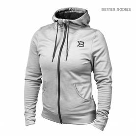 Better Bodies - Performance Hoodie, Grey Melange - Better Bodies hupparit ja takit - 06017 - 1