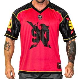 MNX Sportswear - Football Tee No.90, Black/Red - MNX Sportwear t-paidat - 02927 - 1