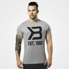 Better Bodies - Washington Tee, Grey Melange - Better Bodies t-paidat - 06047 - 1