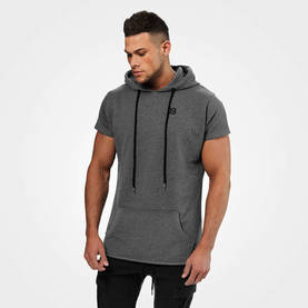 Better Bodies - Bronx T-Shirt Hoodie, Dark Grey Melange - Better Bodies hupparit ja takit - 06278 - 1