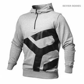 Better Bodies - Brooklyn Zip Hood, Grey Melange - Better Bodies hupparit ja takit - 02788 - 1