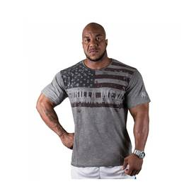 Gorilla Wear - USA Flag Tee, Grey - Gorilla Wear t-paidat - 01978 - 1
