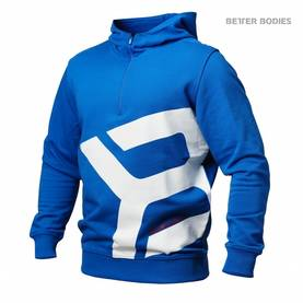 Better Bodies - Brooklyn Zip Hood, Strong Blue - Better Bodies hupparit ja takit - 02789 - 1