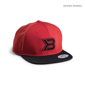 Better Bodies - Flat Bill Cap, Red/Black - Better Bodies päähineet - 01679 - 1