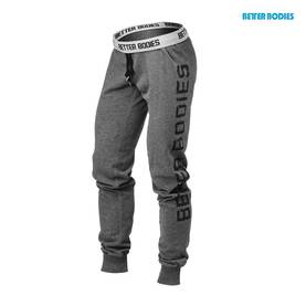 Better Bodies - Slim Sweatpant, Antracite Melange - Better Bodies housut - 01059 - 1