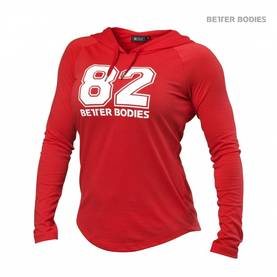 Better Bodies - Varsity Hoodie, Tomato Red - Better Bodies hupparit ja takit - 01199 - 1
