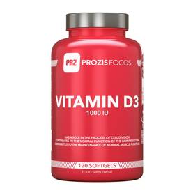 Vitamin D3 1000IU, 120 softgels.Prozis Foods - Vitamiinit - 02189 - 1
