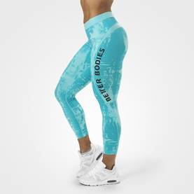 Better Bodies - Gracie Curve Tights, Aqua Print - Better Bodies housut - 06029 - 1